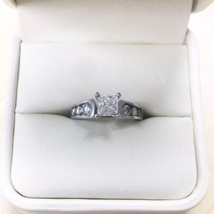 71 off Jewelry Sold Jared 125 Tcw 14k White Gold Diamond Ring